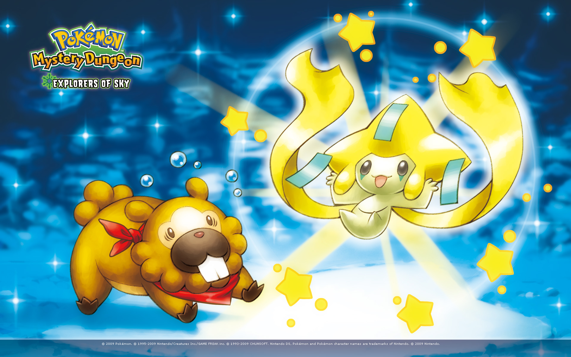 Bidoof And Jirachi Pokemon Mystery Dungeon Explorers Of Sky