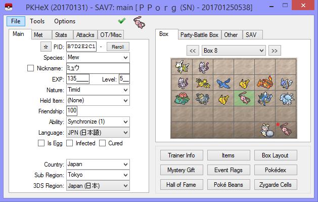 PKHeX 17.01.31 - News - Project Pokemon Forums