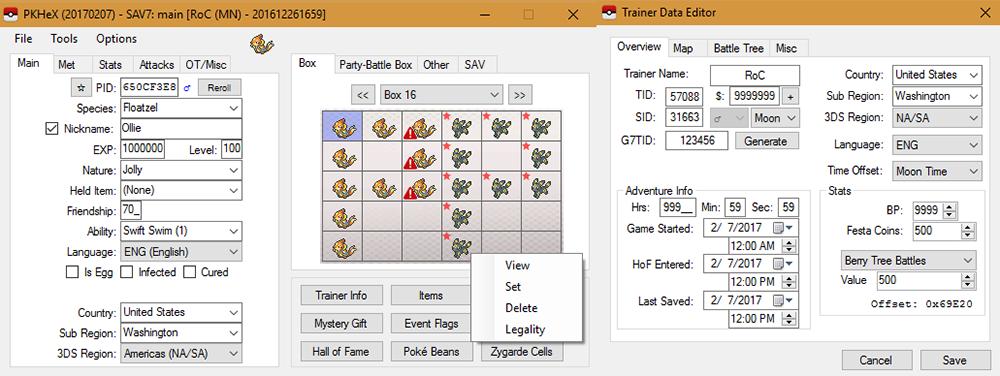 PKHeX 17.02.07 - News - Project Pokemon Forums