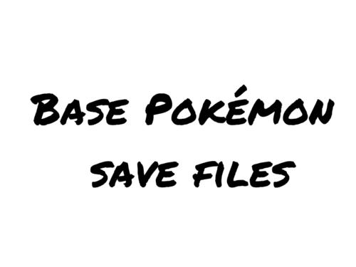 Screenshot for Base Pokémon Save Files (PKHeX compatible)
