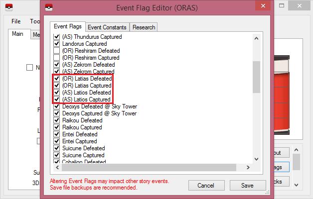 ORAS Eon ticket problem need help - Saves - Editing Help
