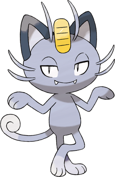 Meowth (Alola) Sugimori Artwork