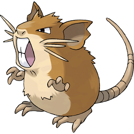 Raticate Sugimori Artwork