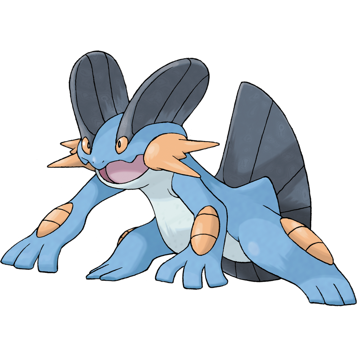 Swampert Sugimori Artwork