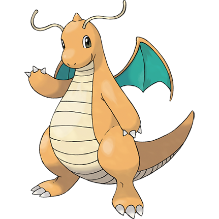 Dragonite Sugimori Artwork