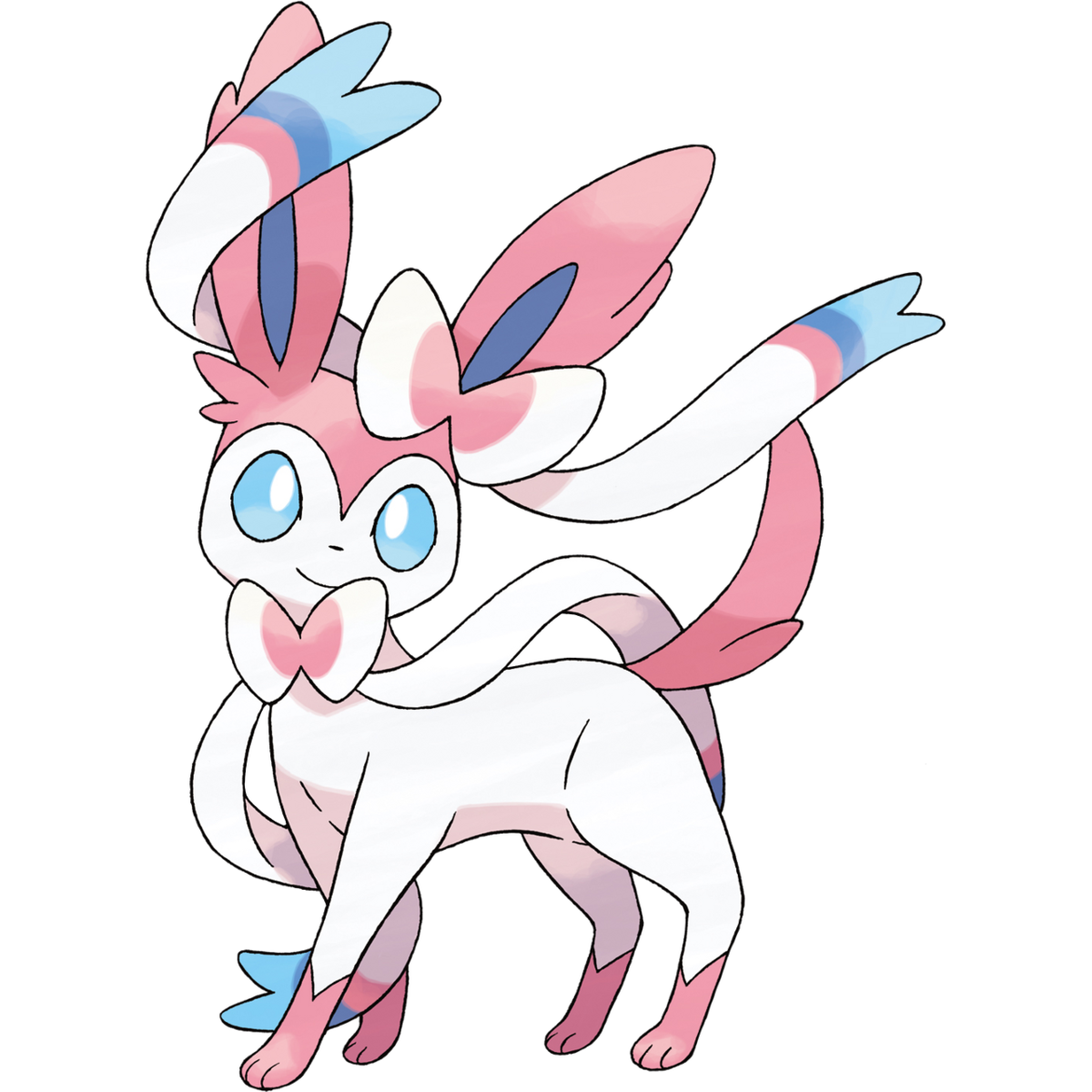 Sylveon Sugimori Artwork