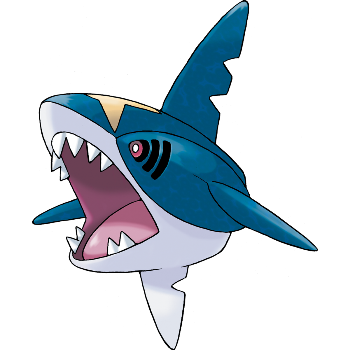 Sharpedo Sugimori Artwork
