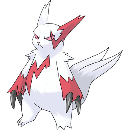 Zangoose Sugimori Artwork