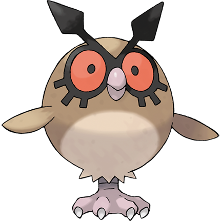 Hoothoot Sugimori Artwork