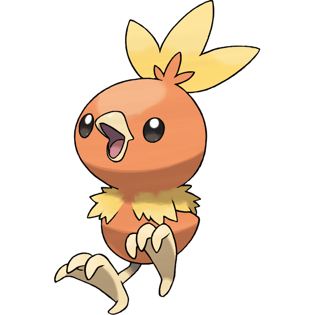 Torchic Sugimori Artwork