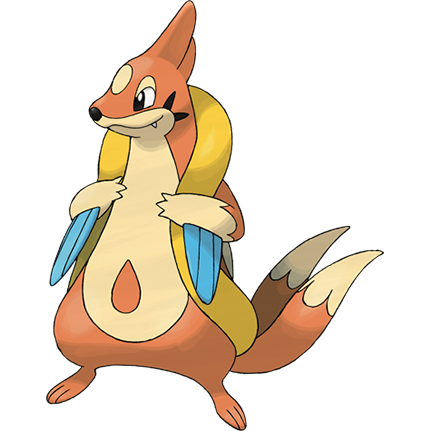 Floatzel Sugimori Artwork