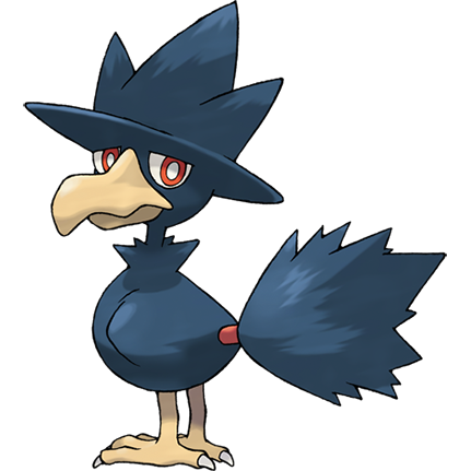 Murkrow Sugimori Artwork