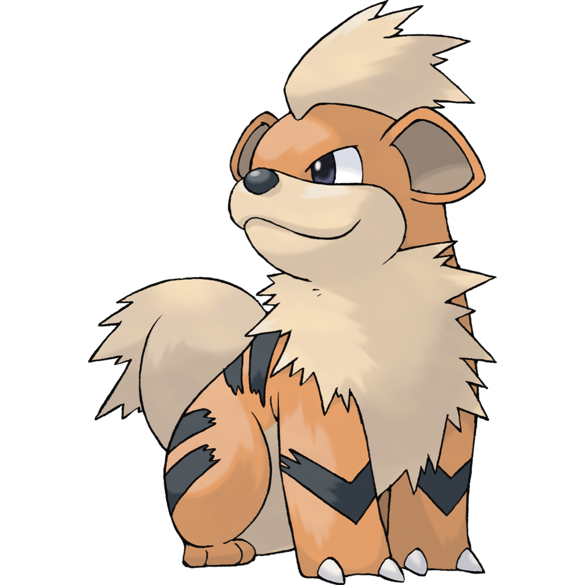 Growlithe Sugimori Artwork