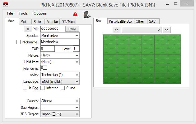 New Release: PKHeX 17.08.07