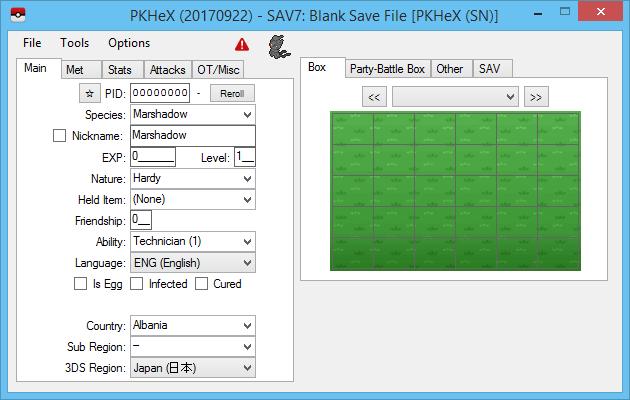 New Release: PKHeX 17.09.22