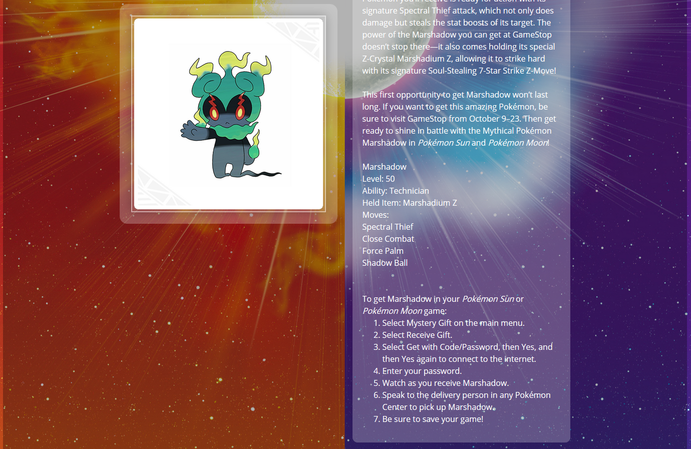 Movie20: Marshadow - English - Project Pokemon Forums
