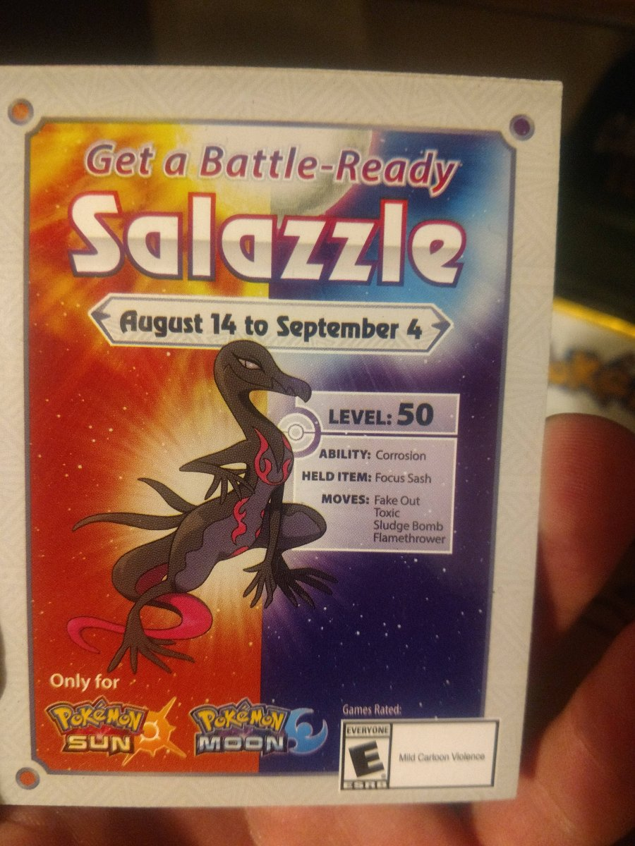 Salazzle Code Card - Front
