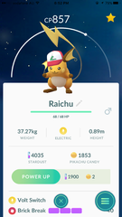 Raichu (Ash Original Cap)