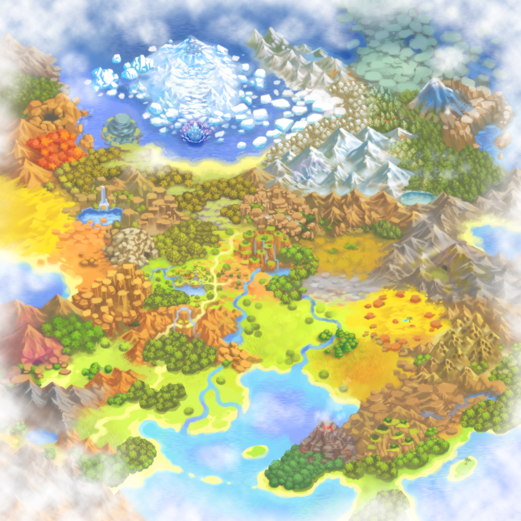 World Map 2 - Pokémon Mystery Dungeon: Gates to Infinity ...