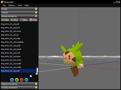 Chespin walking like a Fennekin