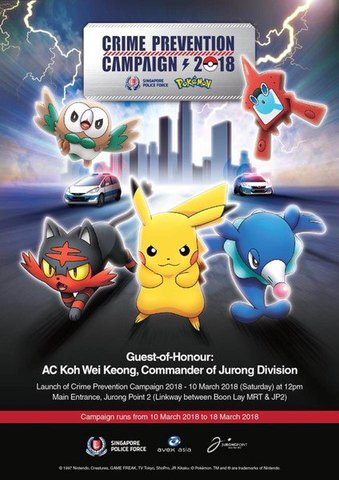 Singapore Police Team Up with Pokemon to Help Stop Crime