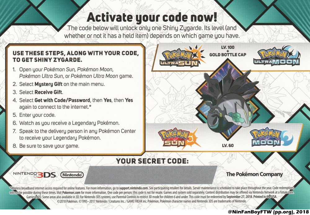 2018 Legends: Shiny Zygarde - English - Project Pokemon Forums