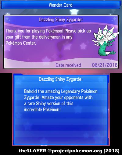 2018 Legends: Shiny Zygarde - English - Project Pokemon Forums