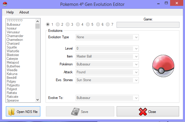 Pokemon evolution editor gba