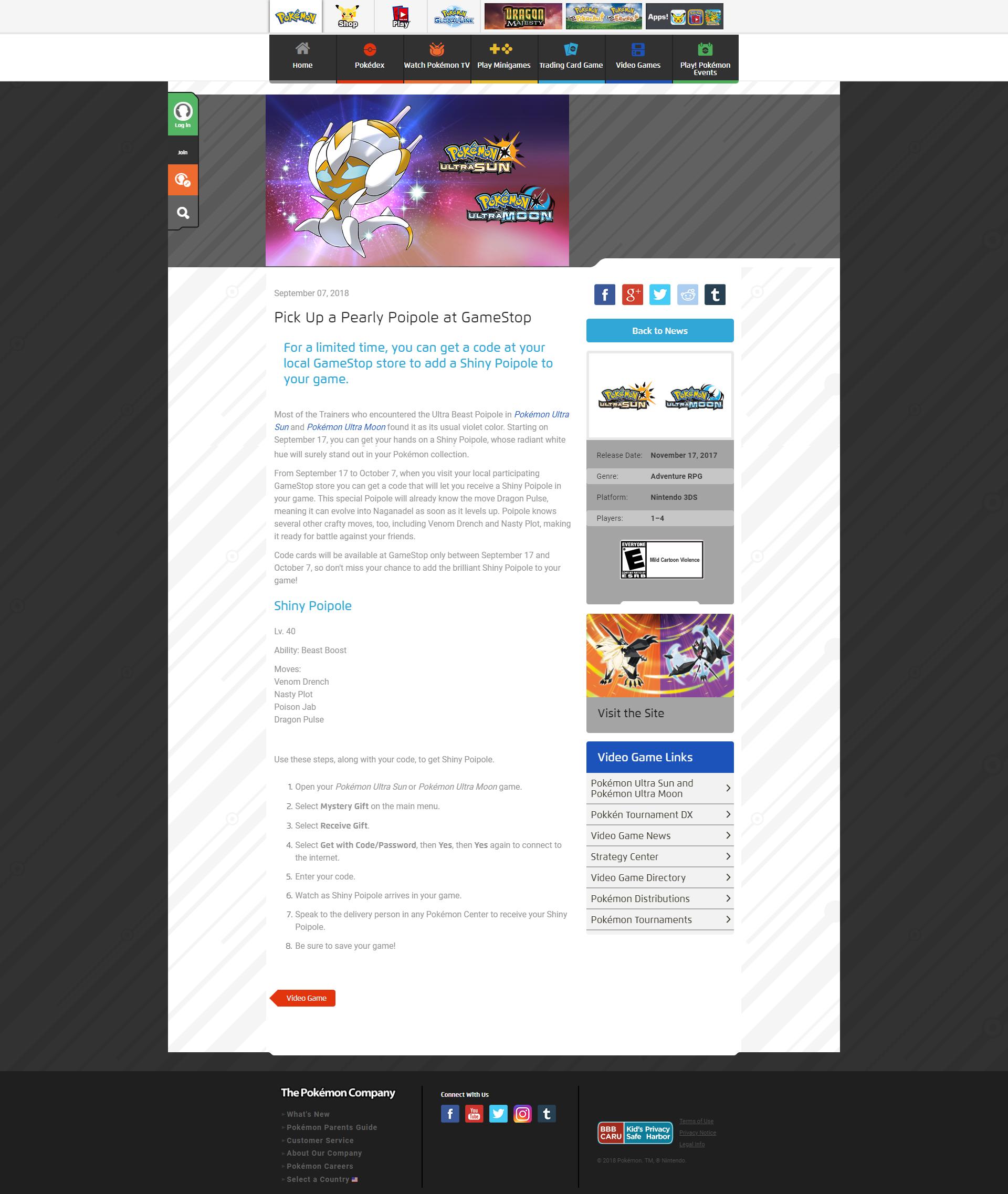 Ultra's Shiny Poipole - English - Project Pokemon Forums