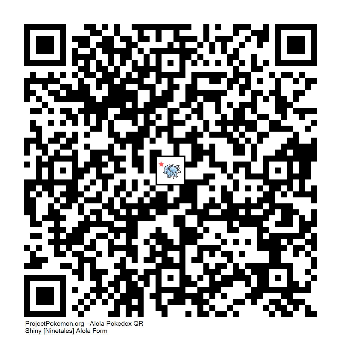 038 - Shiny [Ninetales] Alola Form png - Generation 7 - QR Codes