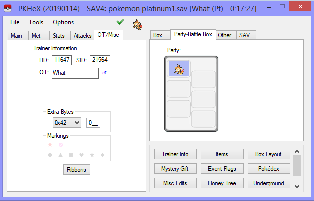 Bug (i geuss) prevents me from opening a Pokemon Platinum