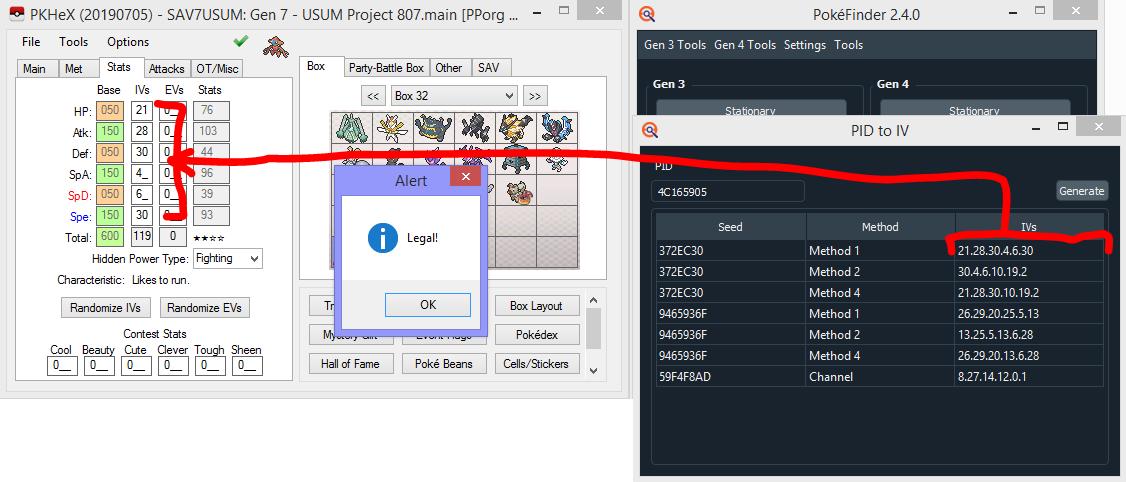 PID Mismatch - Origin Game RSEFRLG - Using PKHeX - Project Pokemon