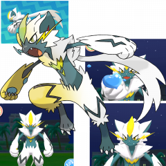 Shiny/Non-shiny Hybrid of Zeraora