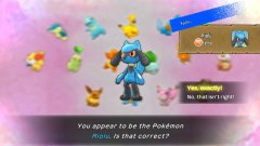 The one time I appear to be Riolu, I'm actually destined to be Fennekin instead